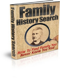 Family History Search ( PLR ) | eBooks | Home and Garden
