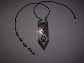 Brick Stitch Gray Wolf Delica Seed Beading Pendant Pattern | Other Files | Arts and Crafts