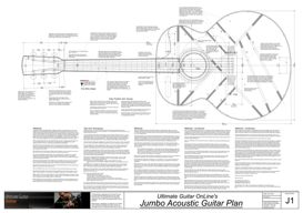 Jumbo Acoustic Guitar Plan | Other Files | Patterns and Templates