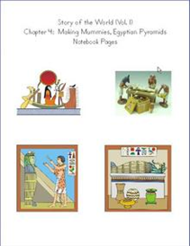 Making Mummies, Egyptian Pyramids Notebook Pages | eBooks | Education