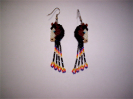 Brick Stitch Paint Horse Delica Seed Beading Fringe Earring Pattern | Other Files | Arts and Crafts