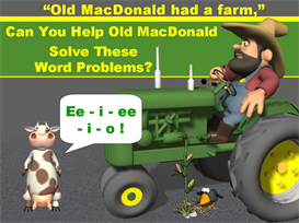Old MacDonald Math Word Problems | Other Files | Documents and Forms