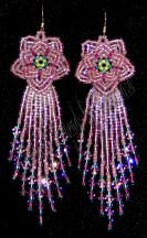 Mauve Peony Earrings | eBooks | Arts and Crafts