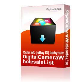 Digital Camera Dvd Camcorders Wholesale List | Other Files | Everything Else