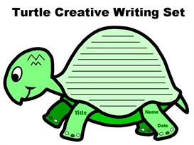 turtle creative writing set