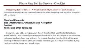 Website Usability Checklist | eBooks | Internet