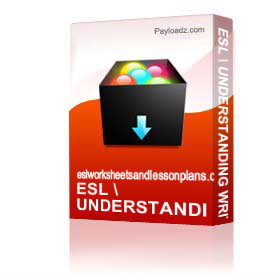 Esl / Understanding Written Directions & Instructions | Other Files | Documents and Forms