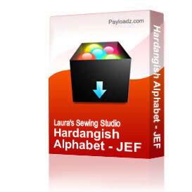 Hardangish Alphabet - JEF | Crafting | Embroidery