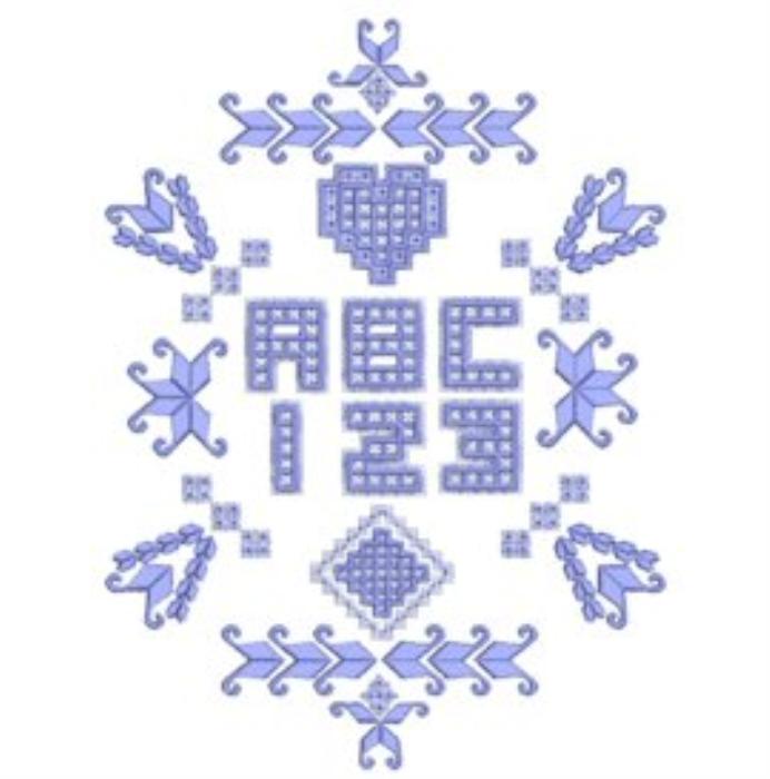 First Additional product image for - Hardangish Alphabet - PES