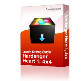 Hardanger Heart 1, 4x4   Other Files   Arts and Crafts