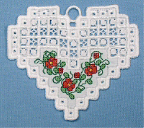 Second Additional product image for - Hardanger Floral Hearts