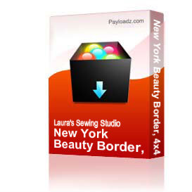 New York Beauty Border, 4x4 | Other Files | Arts and Crafts