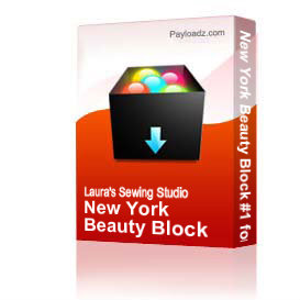 New York Beauty Block #1 for the 4x4 Hoop, ART3 | Other Files | Arts and Crafts