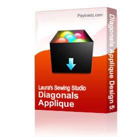 Diagonals Applique Design 5x5 JEF | Other Files | Arts and Crafts
