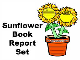 Sunflower Book Report Set | Other Files | Documents and Forms