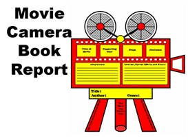 Movie Camera Book Report Set | Other Files | Documents and Forms