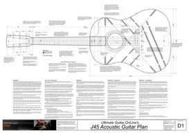 J45 Acoustic Guitar Plan | Other Files | Patterns and Templates