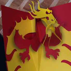 Dragon - EasyCutPopUp | eBooks | Arts and Crafts