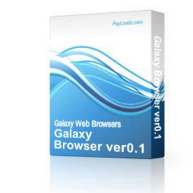 Galaxy Browser ver0.1 | Audio Books | Internet