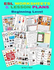 esl worksheets and lesson plans, beginning level, e- book 1