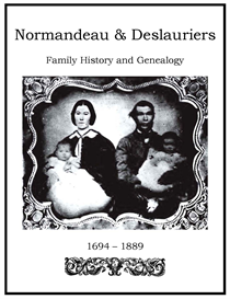 normandeau deslauriers family history and genealogy