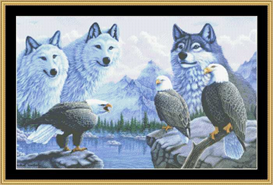 call of the wild - cross stitch download