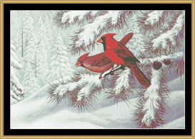Winter Cardnials - Cross Stitch Download | Crafting | Cross-Stitch | Other