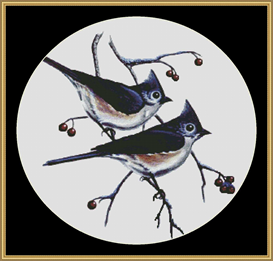 Tuffed Titmice - Cross Stitch Download | Crafting | Cross-Stitch | Other
