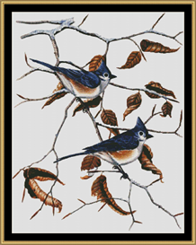 Tuffed Titmice Ii | Crafting | Cross-Stitch | Other