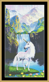 White Horse Waterfall - Cross Stitch Downlaod | Crafting | Cross-Stitch | Other