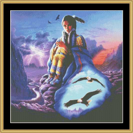 soaring spirits - cross stitch download