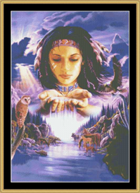 mother earth - cross stitch download