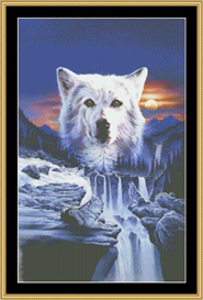 wolf wilderness - cross stitch download