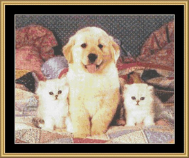 country friends - cross stitch download