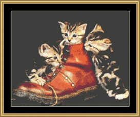 Puss N Boots - Cross Stitch Download   Crafting   Cross-Stitch   Other