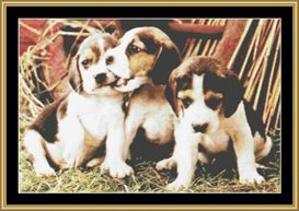 Beagles Three | Crafting | Cross-Stitch | Other