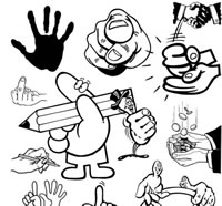 259 Hand Vector Graphics EPS