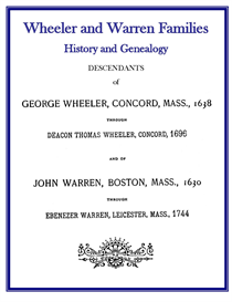 Wheeler Warren Families History and Genealogy | eBooks | History