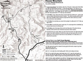 house mountain sedona arizona 4x4 jeep trail map bw printable .pdf