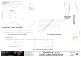000 Concert Guitar Template Set | Other Files | Patterns and Templates