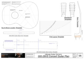 000-28VS Vintage Guitar Template Set | Other Files | Patterns and Templates