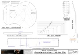 Grand Auditorium 12 String Template Set | Other Files | Patterns and Templates