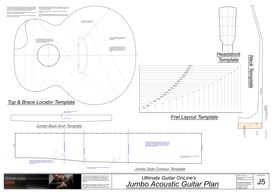 Jumbo Acoustic Template Set | Other Files | Patterns and Templates