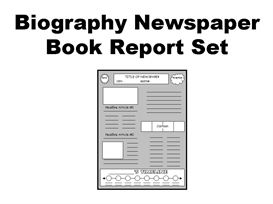 MVC    S JPG Historic Newspapers Biography Book Report Newspaper  templates  printable worksheets  and  grading rubric