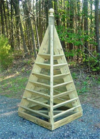 6 ft. pyramid tower plans