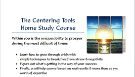 Centering Tools Home Study System | Audio Books | Health and Well Being