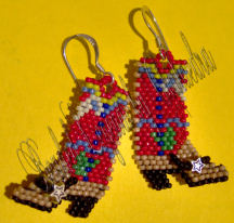 With Her Boots On Earrings | eBooks | Arts and Crafts