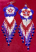 Patriotic Star or Flower Earrings | eBooks | Arts and Crafts