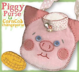 The Percy Piggy Pocketbook Pattern | eBooks | Arts and Crafts