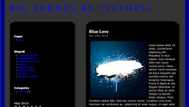 Blue Black Sleek Wordpress